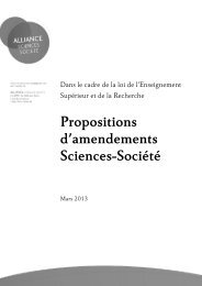 Propositions d'amendements Sciences-Société