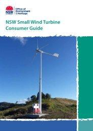NSW Small Wind Turbine Consumer Guide - Department of ...