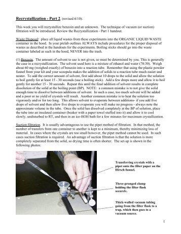 Recrystallization - Part 2.