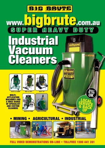 Download the Big Brute Industrial Vacuum Cleaners Machines