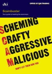 oft831: Scambuster - your guide to beating the scammers - Trading ...
