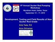 Development, Testing and Field Results of New Sucker Rod Grade
