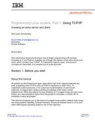 Programming Linux sockets, Part 1: Using TCP/IP - IBM