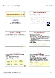Programmazione di rete coi socket - Computer and Network Security ...