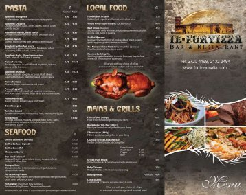 view menu - Fortizza Restaurant