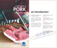 an introduction - Pork For Caterers - BPEX