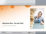 Papierloses Büro - Top oder Flop? - IT Service Plus AG