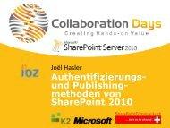 Authentifizierungs- und Publishing- methoden von SharePoint 2010