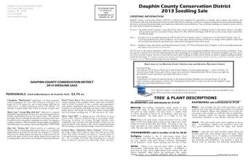 Seedling Sale Order Form - Dauphin County Conservation District