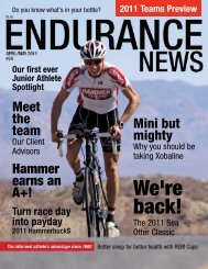 Endurance News Issue 74 - Hammer Nutrition