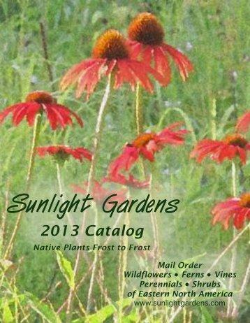 2013 Catalog - Sunlight Gardens, Inc.