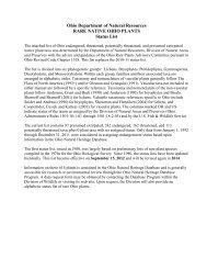 Ohio Rare Plant List 2012-2013 - Ohio Department of Natural ...