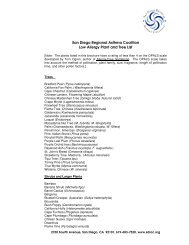 San Diego Regional Asthma Coalition Low Allergy Plant and Tree List