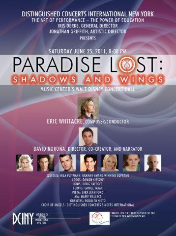 View program - Distinguished Concerts International - New York