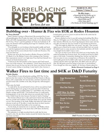 Download the Low Res Version - Barrel Racing Report