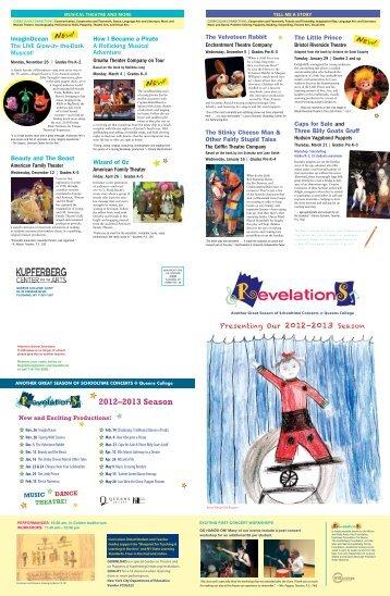 Season Brochure - Kupferberg Center Performances