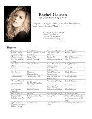 Rachel Clausen - Muhlenberg College