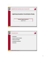 Lightning Insulation Coordination Study - DIgSILENT Pacific