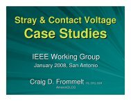 Stray & Contact Voltage Case Studies - Working Group - IEEE