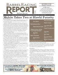 Melvin Takes Two at Hawki Futurity - Barrel Racing Report