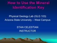 How to Use the Mineral Identification Key - Arizona State University
