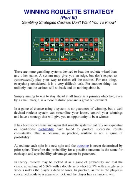 Winning Roulette Strategy It S All About Winning Lotteries