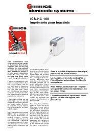 ICS-HC 100 Imprimante pour bracelets - ICS Identcode Systeme AG