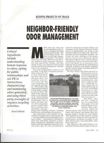 ODOR MANAGEMENT - Nasal Ranger Field Olfactometer