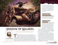 Shadow of Kalarel - Wizards of the Coast
