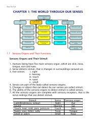 CHAPTER 1 THE WORLD THROUGH OUR SENSES - WordPress