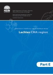 Part E: Lachlan CMA region - NSW Department of Primary Industries
