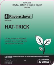 Hat-Trick Label - Ravensdown