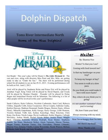 Dolphin Dispatch, November/December 2012 - Toms River ...