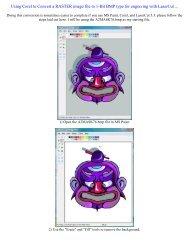 Using Corel to Convert a RASTER image file to ... - Rabbit Laser USA