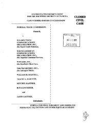 Stipulated Final Judgment and Order for Permanent Injunction and ...