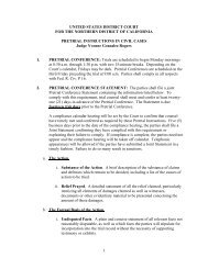 Pretrial Setting Instructions Order - United States District Court ...