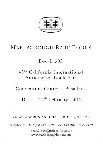MRB Pasadena Bookfair 2012 - Marlborough Rare Books