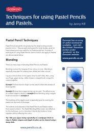 Techniques for using Pastel Pencils and Pastels. - Derwent
