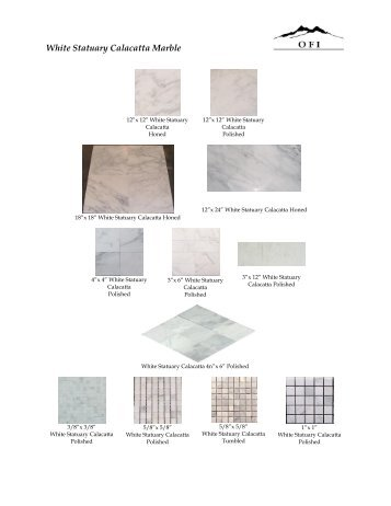 White Statuary Calacatta Marble - Onyx France, Inc.