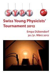 beim SYPT 2012 - Kantonsschule im Lee Winterthur