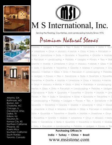 M S International, Inc. - Innovative Cabinetry and Granite LLC