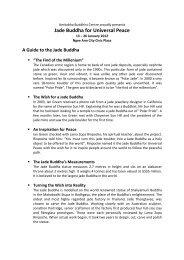 Jade Buddha for Universal Peace - Amitabha Buddhist Centre