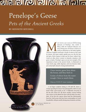 Penelope's Geese - University of Pennsylvania Museum of ...