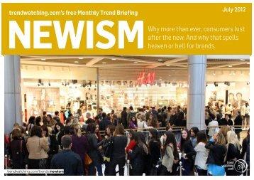 Download NEWISM as PDF - Trendwatching