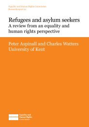 Refugees and asylum seekers - Equality and Human Rights ...