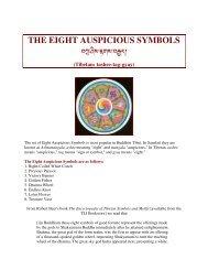 The Eight Auspicious Symbols - Tibetan Language Institute Website