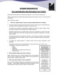 student resource kit asylum seekers and refugees fact sheet