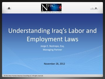 Iraq's Labor and Employment Laws
