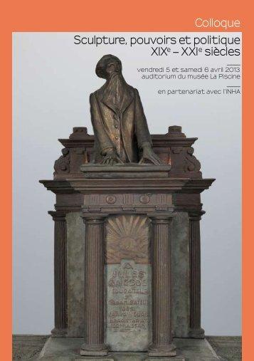 Colloque Sculpture, pouvoirs et politique XIX – XXI siècles