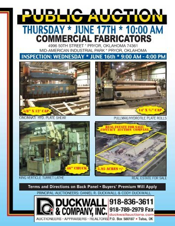 COMMERCIAL FABRICATORS 4pg - Duckwall & Company, INC.